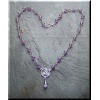 Silver Amethyst Necklace with Triskele