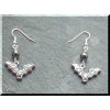 Pewter Bat Earrings