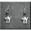 Pewter Cat Earrings