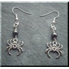 Pewter Spider Earrings