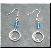 Pewter Blue Moon Earrings
