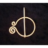 Copper Spiral Penannular Brooch