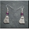 Pewter Sitting Cat Earrings