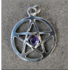 Pentagram with a cabochon Amethyst