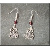 Pewter goose earrings