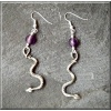 Pewter snake earrings