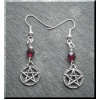 Pewter Pentagram Earrings