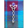 Silver Celtic Knotwork Kilt Pin