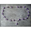 Silver and amethyst pentagram necklace