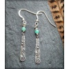 Silver earring with hemimorphite bead