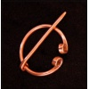 Small Copper Penannular Brooch with Scroll