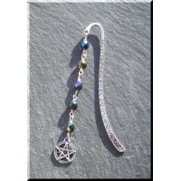 Pewter bookmark with pentagram