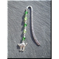 Pewter witch's cat bookmark